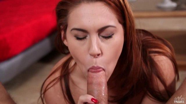 Рыжая наяривает глубокой глоткой по толстому пенису любовника #5